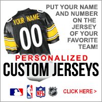 Custom MLB NBA NFL NHL Jersyes